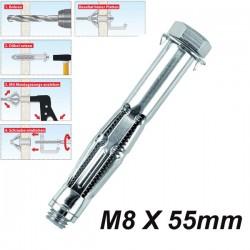 TOX ACROBAT M8x55mm Μεταλλικό βύσμα γυψοσανίδας αρθρωτά με βίδα (εξάγωνο κεφάλι)