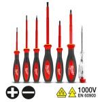 MILWAUKEE 4932464068 Σειρά κατσαβίδια ηλεκτρολόγων 1000V 7τεμ.