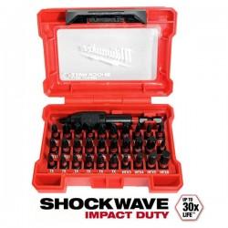MILWAUKEE 4932464240  Σετ Μύτες & Αντάπτορας Shockwave 32 τεμ