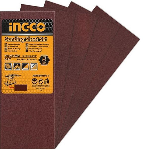 INGCO AKFS240101-1 Σετ γυαλόχαρτα τριβείου