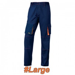 FERRELI BIZARO 16-304-623 Παντελόνι εργασίας μπλε - πορτοκαλί #Large