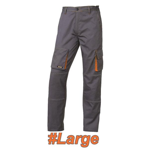 FERRELI BIZARO 16-304-633 Παντελόνι εργασίας γκρι- πορτοκαλί #Large