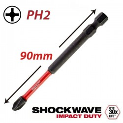 MILWAUKEE 4932430856 Μύτη PH2x90 SHOCKWAVE