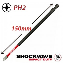 MILWAUKEE 4932471565 Μύτη PH2x150 SHOCKWAVE