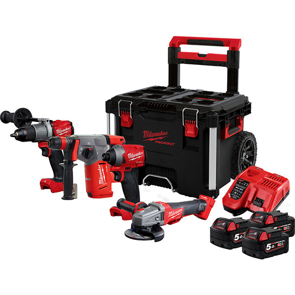 MILWAUKEE M18 FPP4A-503P FUEL POWER PACKOUT SET (4933471148)