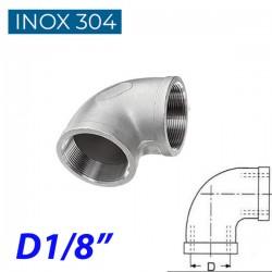 "INOX 304 Γωνία 90° θηλυκή 1/8"""