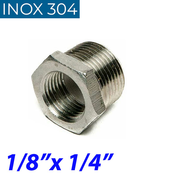 "INOX 304 Συστολή Αμερικής 1/8"" Χ 1/4"""