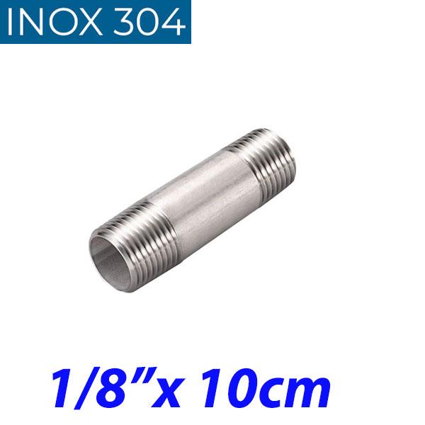 "INOX 304 Σωληνομαστός 1/8"" -10cm"