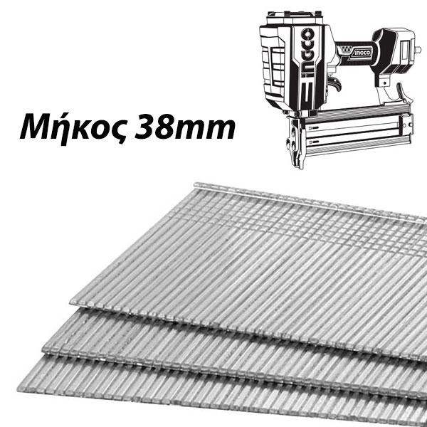 INGCO ANA01381 Καρφιά αεροκαρφωτικού 38mm (1000τμχ)