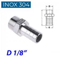 "INOX 304 Ακροσωλήνιο 1/8"""