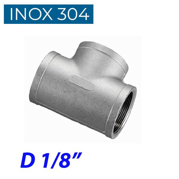 """INOX 304 Ταυ θηλυκό 1/8"""""""