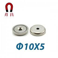 Μαγνήτης νεοδιμίου 35N με τρύπα Ø10X5mm
