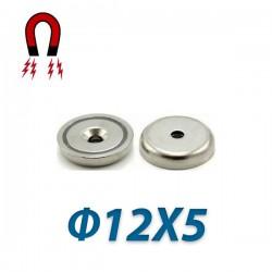 Μαγνήτης νεοδιμίου 35N με τρύπα Ø12X5mm