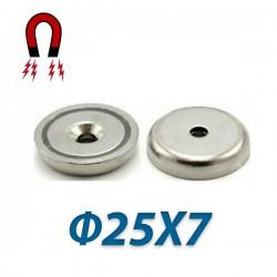Μαγνήτης νεοδιμίου 35N με τρύπα Ø25X7mm