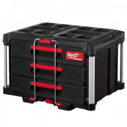 MILWAUKEE PACKOUT 4932472130 Εργαλειοθήκη - συρταριέρα με 3 συρτάρια