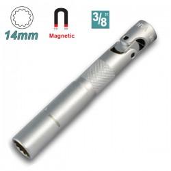 "WHIRLPOWER 12733-2-275 Μπουζόκλειδο μαγνητικό σπαστό μακρύ 14 x 3/8"""