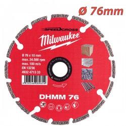 MILWAUKEE 4932471333 Διαμαντόδισκος κοπής DHMM ⌀ 76mm