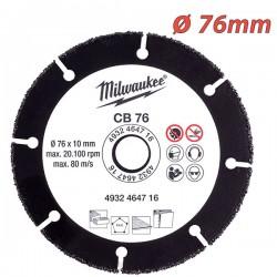 MILWAUKEE 4932464716 Διαμαντόδισκος κοπής καρβιδίου ⌀ 76mm