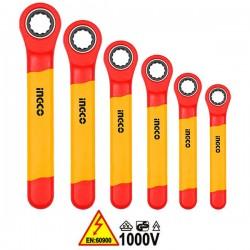 INGCO HKISPA0603 Σειρά κλειδιά πολύγωνα καστάνιας 1000V VDE ηλεκτρολόγου (6 τεμ)