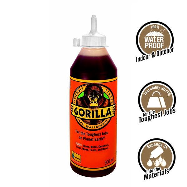 GORILLA GLUE 500ml Κόλλα πολυουρεθάνης αδιάβροχη γενικής χρήσης (1044181)
