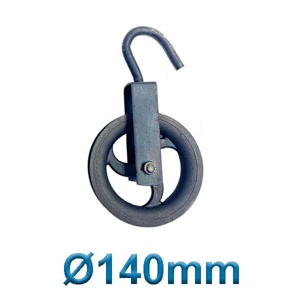PASCO TOOLS 070014 Μακαράς - τροχαλία χυτοσίδηρα με γάντζο Ø 140mm