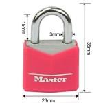 MASTERLOCK Λουκέτα κόκκινα 2 τεμάχια ίδιο κλειδί Νο20 (E9121003)