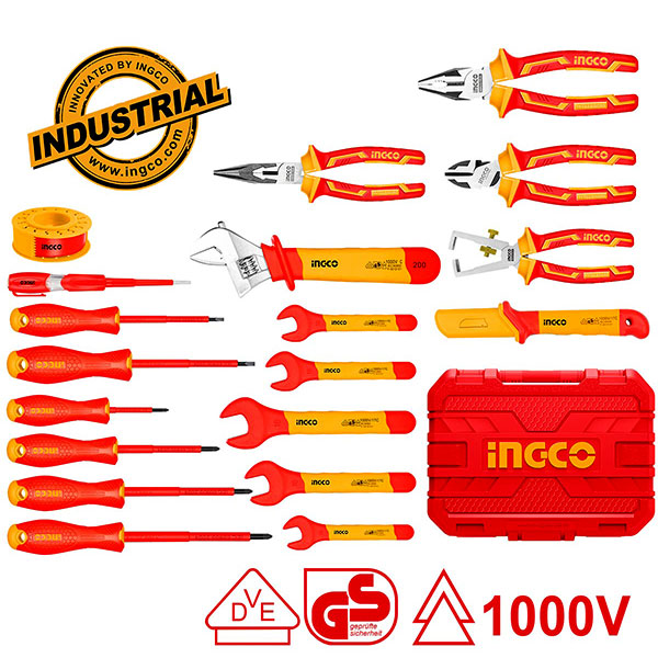 INGCO HKITH1901 Σειρά εργαλείων ηλεκτρολόγων 1000V 19 τεμ