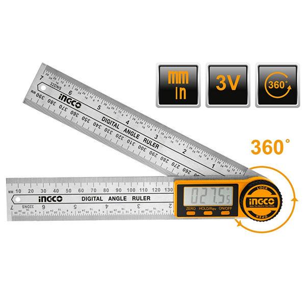 INGCO HDAR20701 Ηλεκτρονικό γωνιόμετρο - μοιρογνωμόνιο 0-360°