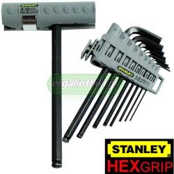 STANLEY 0-89-904 Σειρά κλειδιά Allen 9 τεμάχια με λαβή Hexgrip