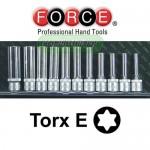 """FORCE TOOLS 3112 Σειρά καρυδάκια E-torx 3/8"""""""