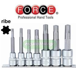 "FORCE TOOLS 3078 Σειρά καρυδάκια Ribe 1/2"" και 3/8"""