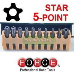 FORCE TOOLS 21013 Σειρά μύτες TS (5 ακτίνες)