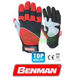 BENMAN TOOLS Γάντια υφασμάτινα με δερμάτινη ενίσχυση