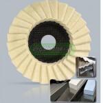 DRONCO 6900041 Σετ γυαλίσματος για ανοξείδωτες επιφάνειες 125mm