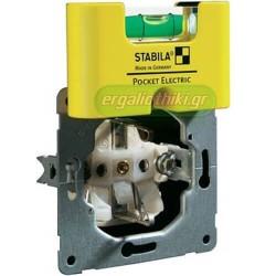STABILA POCKET ELECTRIC Αλφάδι ηλεκτρολόγων μαγνητικό