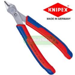 KNIPEX 7803125 Πλαγιοκόπτης 120mm ηλεκτρονικών Electronic Super Knip®