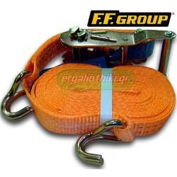 FFGROUP 30952 Ιμάντας πρόσδεσης με καστάνια 25mm x 6m
