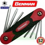 BENMAN TOOLS 70405 Σειρά κλειδιά Torx T10-T40 αναδιπλούμενα