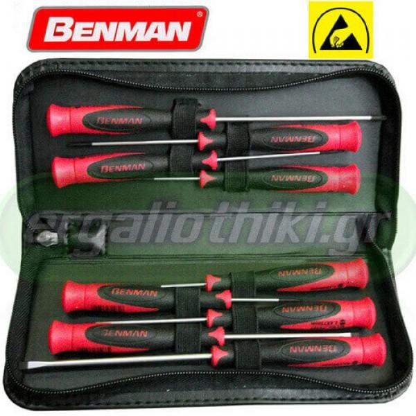 BENMAN TOOLS 70483 Σειρά κατσαβίδια ακρίβειας ESD