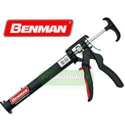 BENMAN TOOLS 70101 Πιστόλι σιλικόνης βαρέως τύπου φισιγγίων 310ml