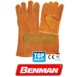 BENMAN TOOLS 77307 Δερμάτινα γάντια για συγκολλήσεις