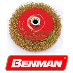 BENMAN TOOLS ΣΕΙΡΑ 74300 Συρματόβουρτσα γωνιακού τροχού κωνική (επιλέγετε μέγεθος)