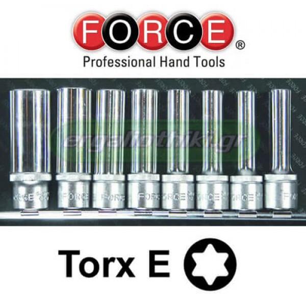 """FORCE TOOLS 4083 Σειρά καρυδάκια E-torx 1/2"""""""