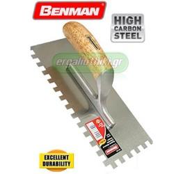 BENMAN TOOLS Μυστρί - χτένα κόλλας πλακιδίων (επιλέγετε μέγεθος)