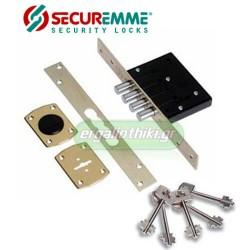 SECUREMME 2025 Πρόσθετη κλειδαριά τρίαινα με 5 κλειδιά