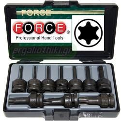"""FORCE TOOLS  41013 Σειρά καρυδάκια 1/2"""" Torx"""