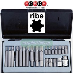 FORCE TOOLS 4225 Σειρά μύτες RIBE