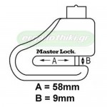 MASTER LOCK 8304DPS Κλειδαριά δισκόφρενων
