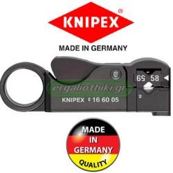 KNIPEX 166005 SB Απογυμνωτής για ομόκεντρα καλώδια