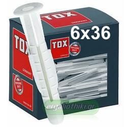 TOX Trika 6x36mm Βύσμα γενικής χρήσης (10 τεμάχια)